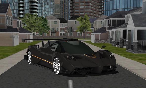 real city racing car parking poster