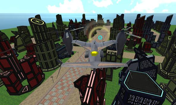 sci fi airplane helicopter 3D apk screenshot