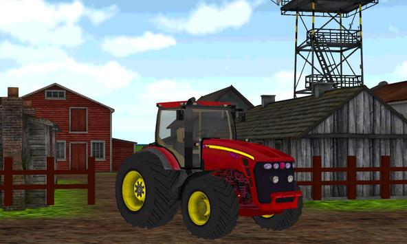 Tractor Harvest Farming Sim 3D poster