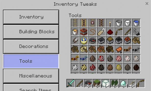 Inventory Tweaks Addon apk screenshot