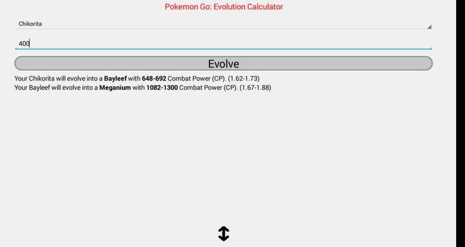 CP evolution calculator Pokemo poster