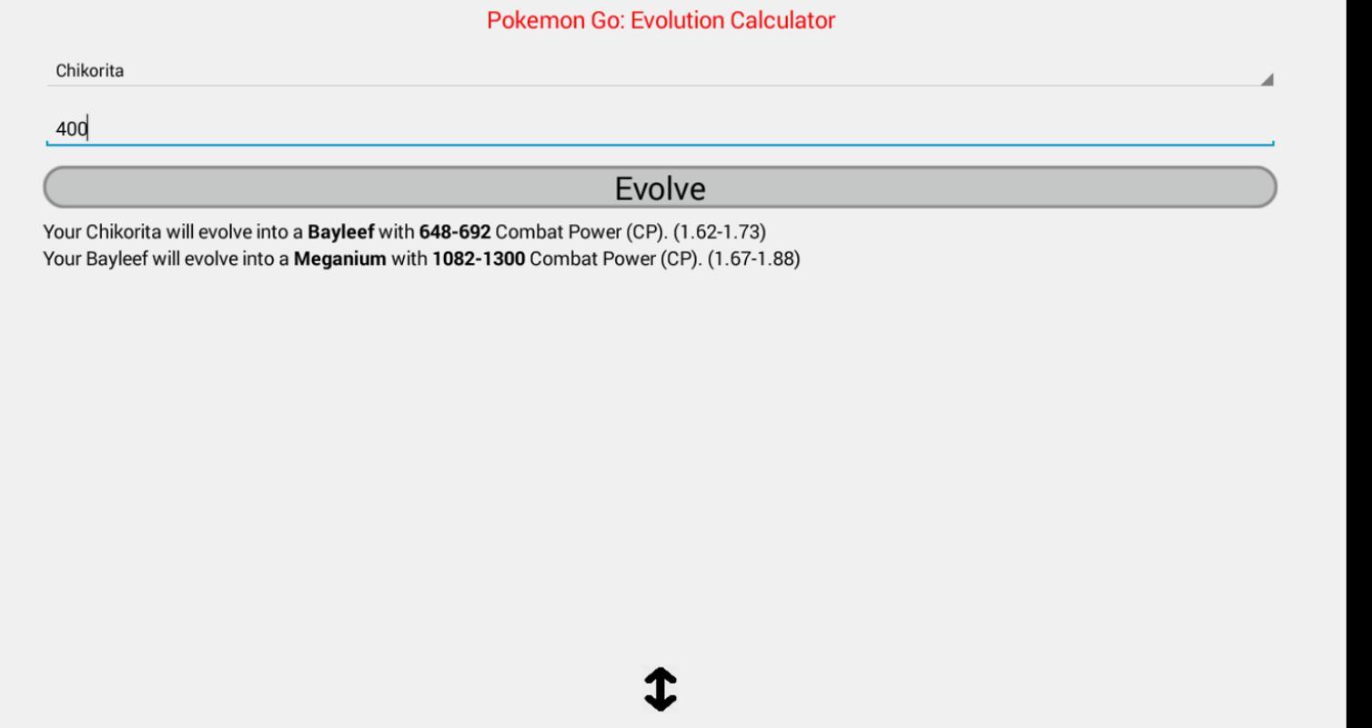 Cp Evolution Calculator Pokemo For Android Apk Download