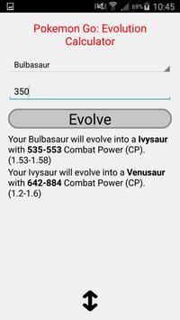 CP evolution calculator Pokemo screenshot 1