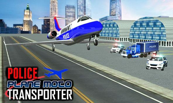 Police Plane Moto Transporter screenshot 5