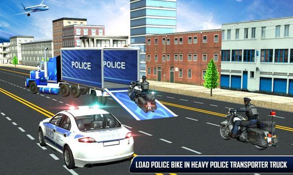 Police Plane Moto Transporter poster