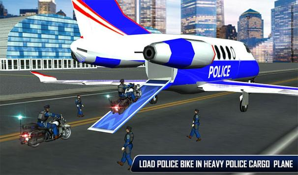 Police Plane Moto Transporter screenshot 13