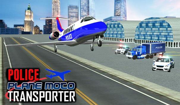 Police Plane Moto Transporter screenshot 16