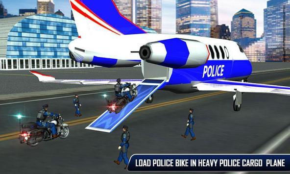 Police Plane Moto Transporter screenshot 2