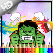Coloring Big Green Hero For Kids icon