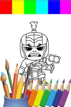 Coloring Big Green Hero For Kids screenshot 2