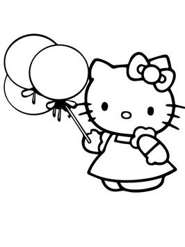 Kitty Coloring Hello Kids poster