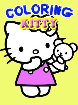 Kitty Coloring Hello Kids apk screenshot