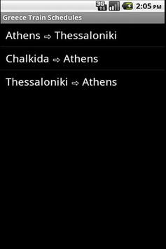 Greece Train Schedules poster