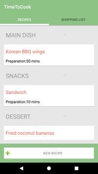 TimeToCook Recipe Book & Shopping List apk screenshot
