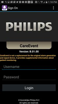 Philips CareEvent B.01 poster