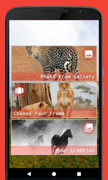 Wild Animal Photo Frame poster
