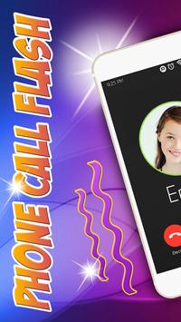 Phone Call Flash Led Light App poster
