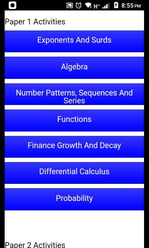 Grade 12 Mathematics Mobile Application for Android - APK
