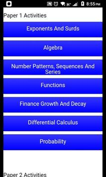 Grade 12 Mathematics Mobile Application screenshot 1
