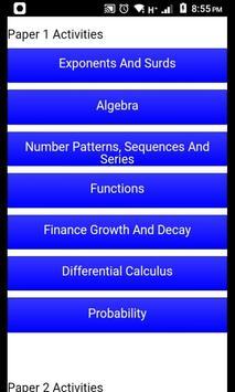 Grade 12 Mathematics Mobile Application 截图 1