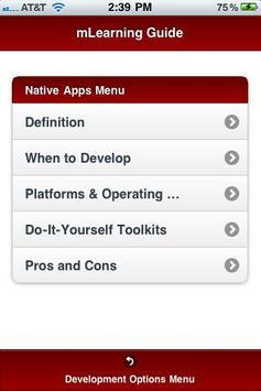ADL mLearning Guide screenshot 1
