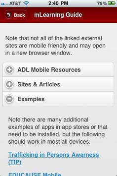 ADL mLearning Guide screenshot 3