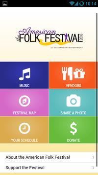 American Folk Festival poster