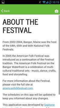 American Folk Festival apk screenshot
