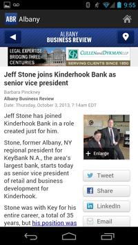 Albany Business Review apk screenshot
