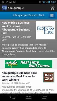 Albuquerque Business First poster