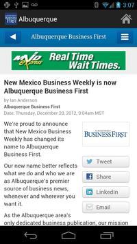 Albuquerque Business First apk screenshot