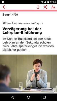 Basler Zeitung screenshot 3