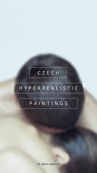 Czech hyperrealistic paintings poster