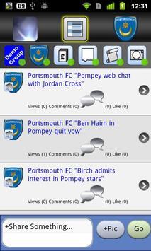 PompeyFanApp poster