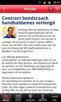 Handbal.nl competitie screenshot 1