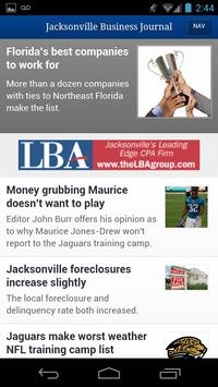 Jacksonville Business Journal poster
