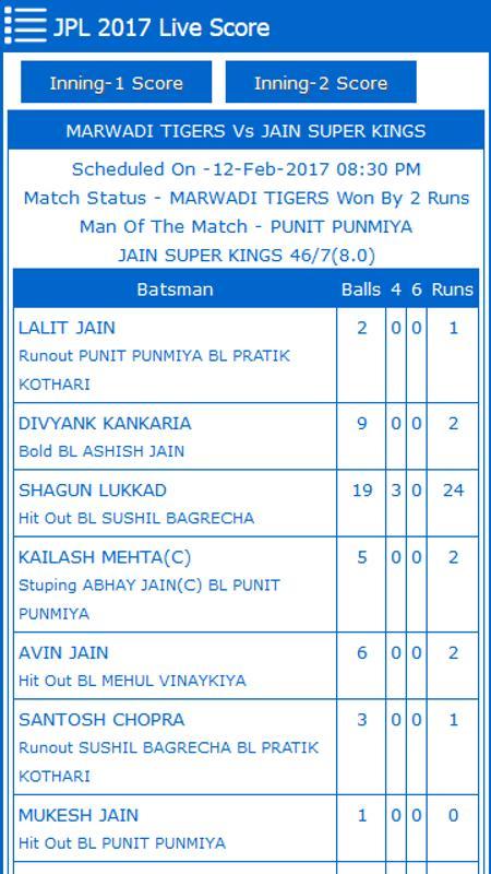 Smart cricket live score apk baixar gr tis esportes for Smart cricket