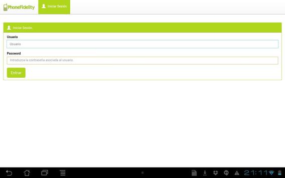 PHONEFIDELITY - DEMO apk screenshot
