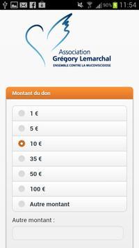 Association Grégory Lemarchal apk screenshot