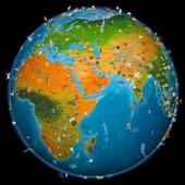world map atlas 2017 icon
