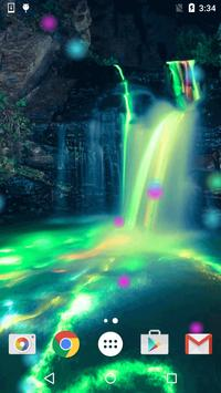 Neon Waterfalls Live Wallpaper apk screenshot