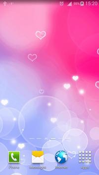 Pink Hearts Live Wallpaper apk screenshot