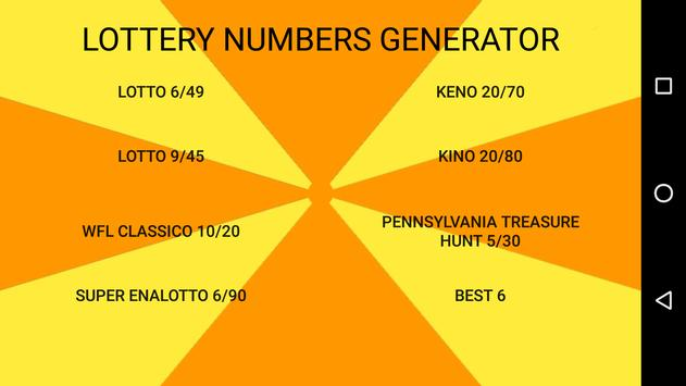 Lottery Numbers Generator poster