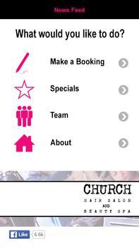 Church Salon Chatham apk screenshot