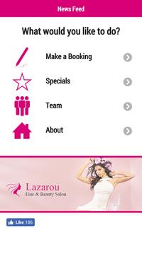 Lazarou Hair and Beauty poster