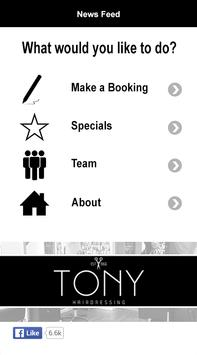 Tony Hairdressing poster
