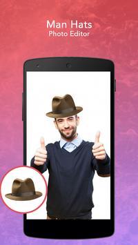 Man Hats Photo Editor screenshot 1