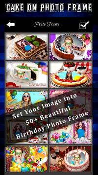 Birthday Cake Photo Frame poster
