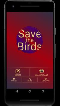 Save the Birds Photo Editor poster