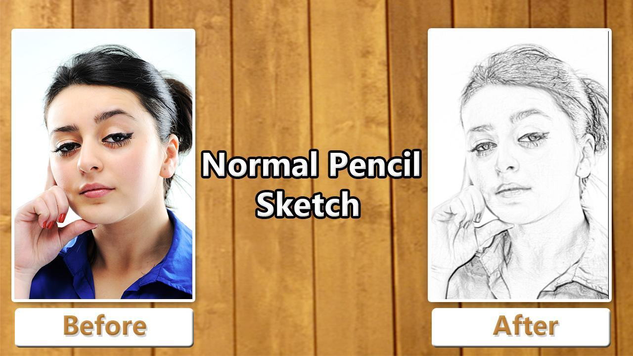 Photo to pencil sketch effects poster